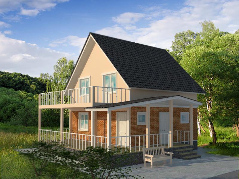 Дома с пристроенным балконом. - мои статьи - каталог статей .